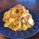 焼きベーコンと卵のカレーパスタサラダ(4~5人分)